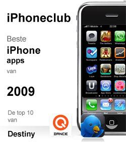 iPhoneclub beste apps 2009 van Destiny