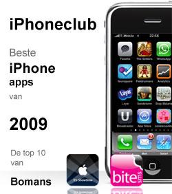iPhoneclub beste apps 2009 van Bomans