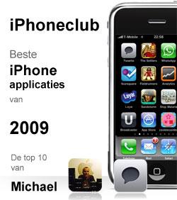 iPhoneclub beste apps 2009 van Michael