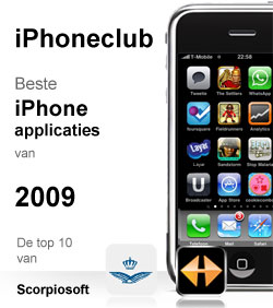 de top 10 beste iphone applicaties 2009 van scorpiosoft. Black Bedroom Furniture Sets. Home Design Ideas