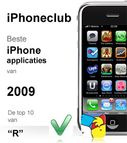 """iPhoneclub beste apps 2009 van """"R"""""""