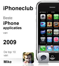 iPhoneclub beste apps 2009 van Mike