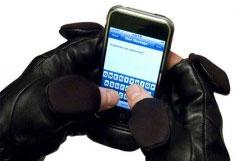 lederen iphone handschoenen