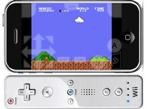 WiiMote met NES4iPhone
