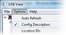 Options - Config descriptors