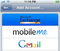 exchange gmail