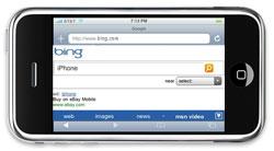 Bing op de iPhone