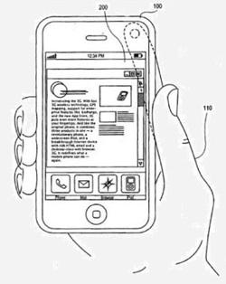 patent camera vinger beweging