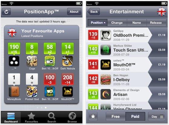positionapp screens