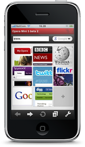 Opera Mini voor de iPhone