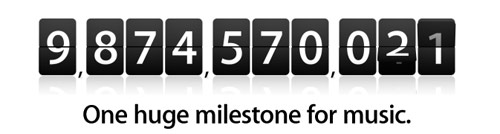 Apple Countdown 10 miljardste download uit Music Store