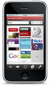 Opera Mini op de iPhone