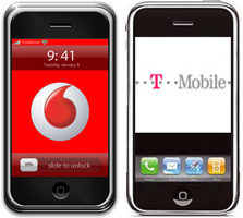 vodafone t-mobile iphone