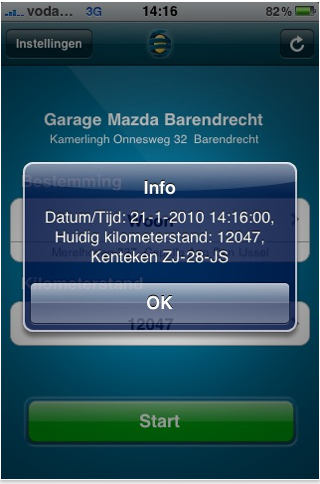 SmartDriver iPhone kilometerregistratie