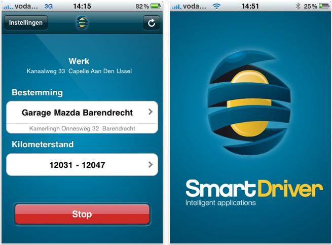 SmartDriver iPhone rittenadministratie