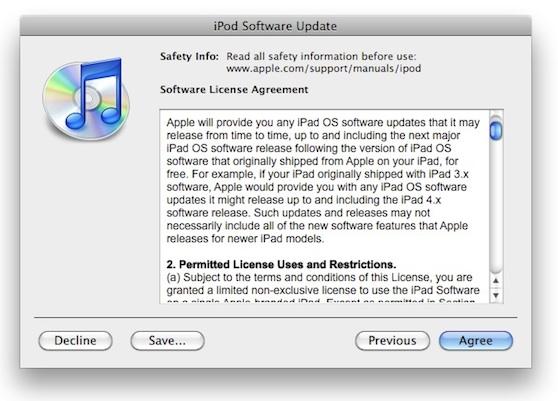 ipad software overeenkomst
