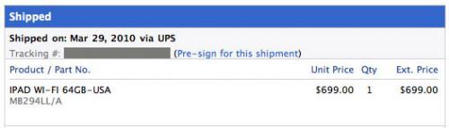 ipad shipping