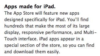 app store ipad sectie