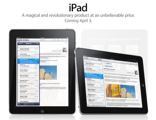 iPad op 3 april voor VS