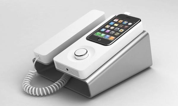 desk phone dock iphone