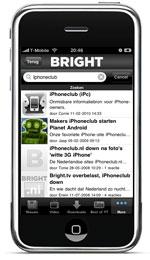 Preview Bright 1.1 zoekfunctie op de iPhone