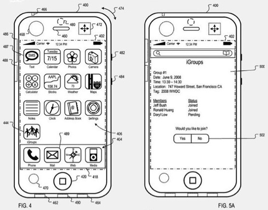 igroups patent apple