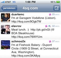 tweetie foursquare