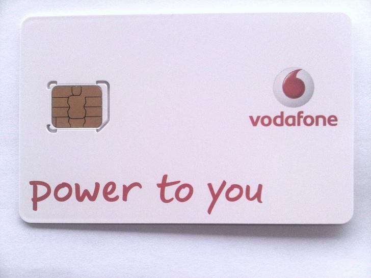 Britse micro-simkaart van Vodafone