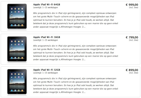 ipad prijzen iphone service point
