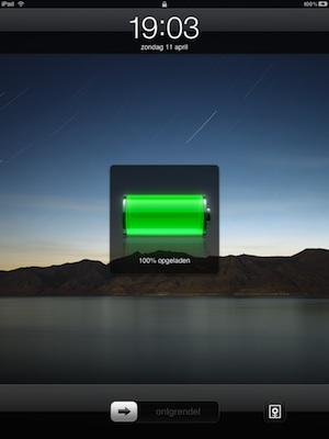 ipad batterij
