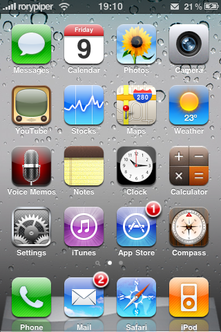 iPhone OS 4.0 thema in Cydia