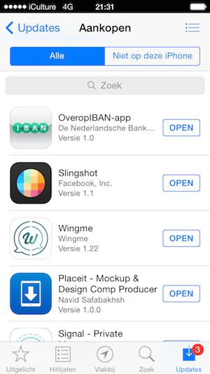Aankopen in de App Store