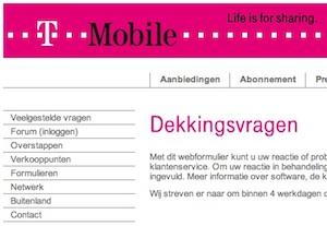 t-mobile dekking