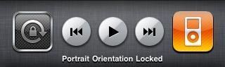 iPhone OS 4 b3 - rotation lock