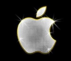 apple logo glitter