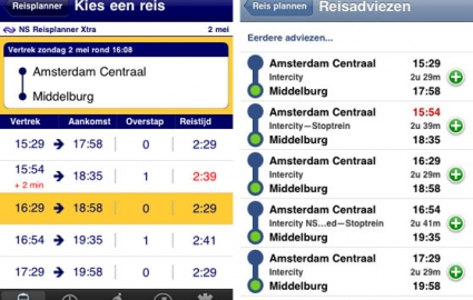 reisplanner versus trein