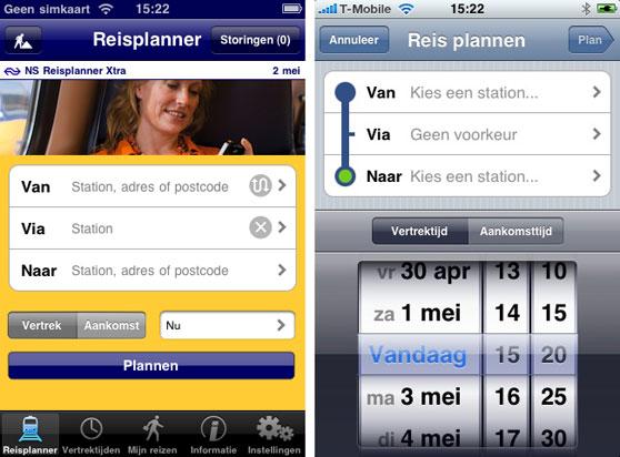 Reisplanner versus Trein: reis plannen.