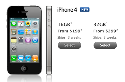 iPhone 4 levertijd naar 3 weken