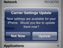 carrier settings