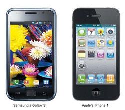 Samsung Galaxy S en iPhone 4