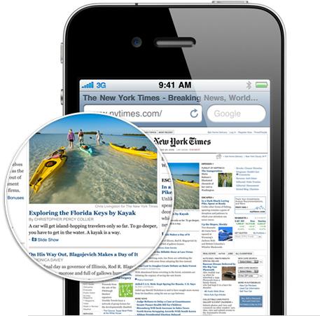 iPhone 4 Retina-beeldscherm