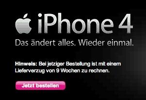 iphone 4 uitstel