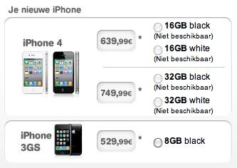 iphone 4 prijzen