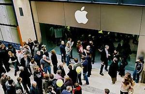 apple store drukte