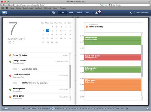 MobileMe Calendar Beta