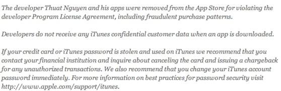 itunes fraude