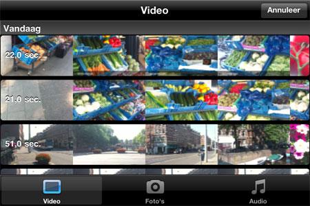 iMovie workshop.