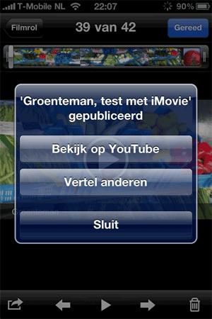 iMovie exporteren