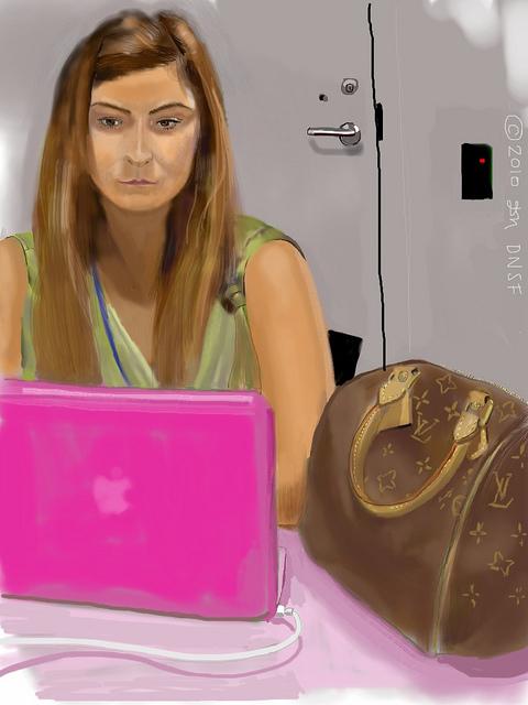 Schilderij van iPad-kunstenaar David Newman