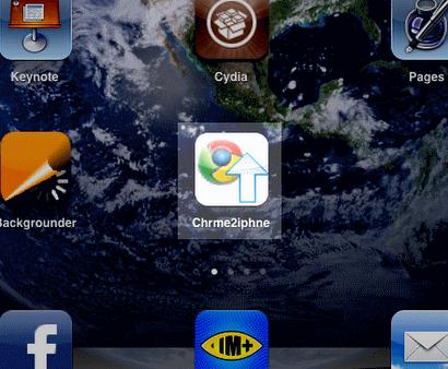 Chrome to iPhone